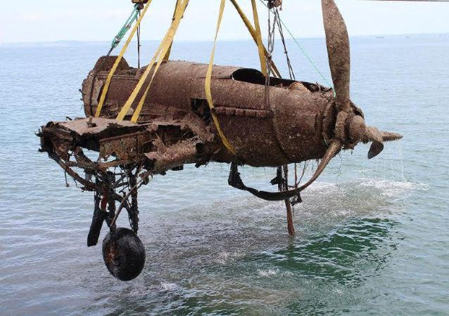 Wydobyty z dna Morza Czarnego samolot szturmowy Ił-2