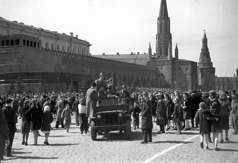 Plac Czerwony 9 maja 1945