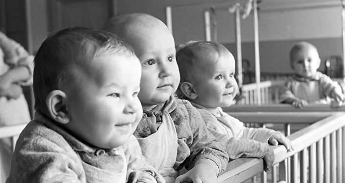 Dzieci w przedszkolu wsi roboczej Polockij.