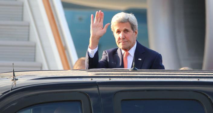 Amerykański sekretarz stanu John Kerry podczas wizyty w Moskwie