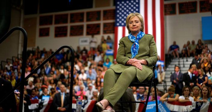 Kandydatka na prezydenta USA z ramienia Partii Demokratycznej, Hilary Clinton, podczas mitingu w Colorado, 03.08.2016.