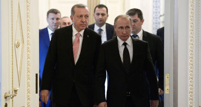 Spotanie prezydentów Rosji i Turcji, Władimira Putina i Recepa Tayyipa Erdogana, w Petersburgu