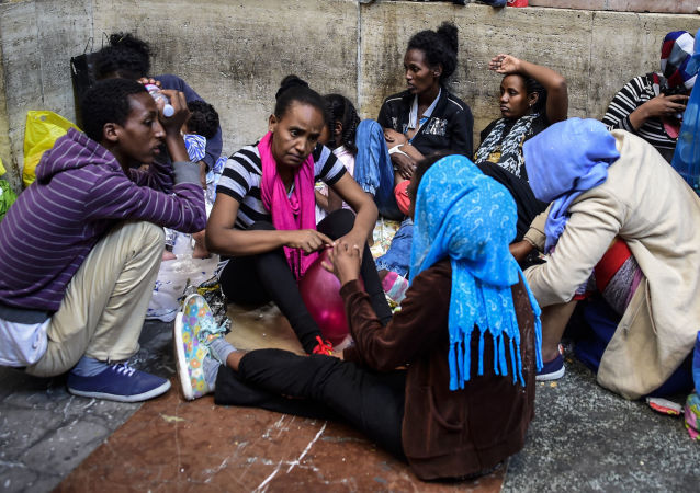 Uchodźcy w Mediolanie
