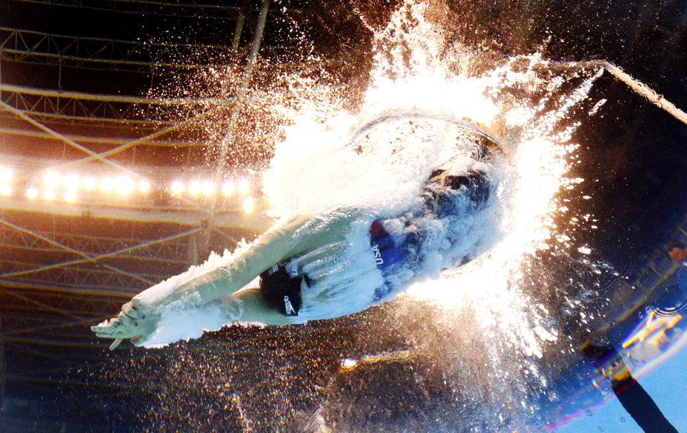 Amerykańska pływczka Katie Ledecky na Olimpiadzie 2016 w Rio de Janeiro