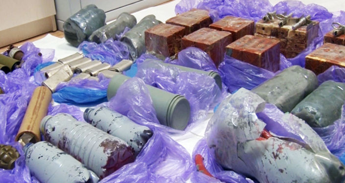 Urządzenia wybuchowe znalezione w trakcie zatrzymania ukraińskich dywersantów na Krymie.