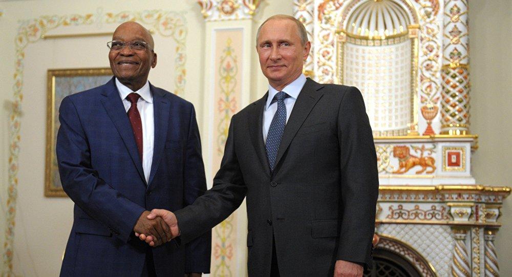 Władimir Putin i Jacob Zuma