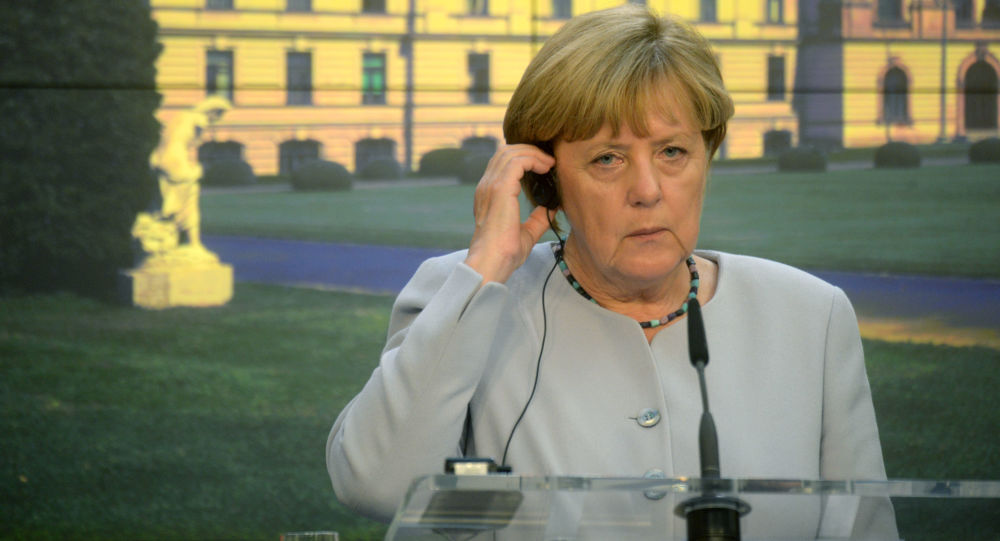 Angela Merkel w Pradze