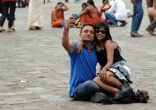 Turyści w Indiach