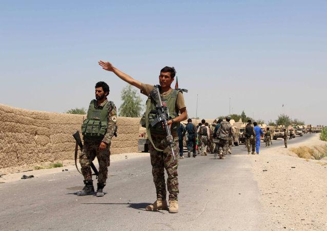 Afgańscy żołnierze w prowincji Helmand