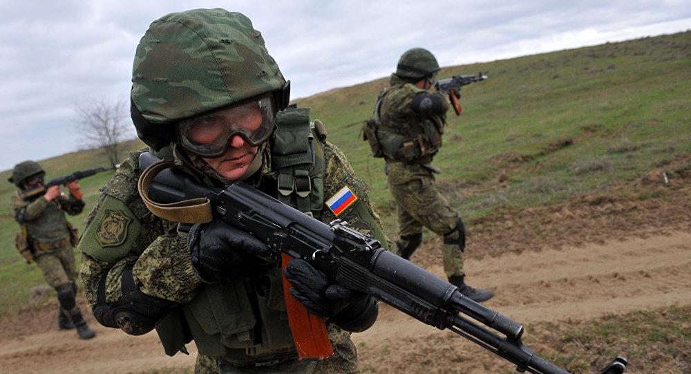 Ćwiczenia wojskowe rosyjskiej armii na poligonie siernowodskim