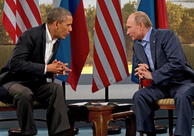 Barack Obama i Władimir Putin