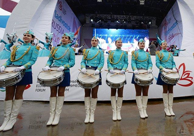 Otwarcie festiwalu Ulica Dalekiego Wschodu w ramach 2. Wschodniego Forum Ekonomicznego.