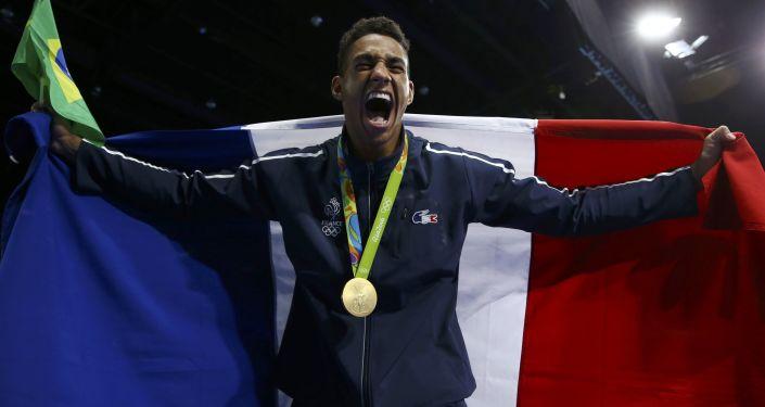 Francuski bokser Tony Yoka na XXXI Letnich Igrzyskach Olimpijskich