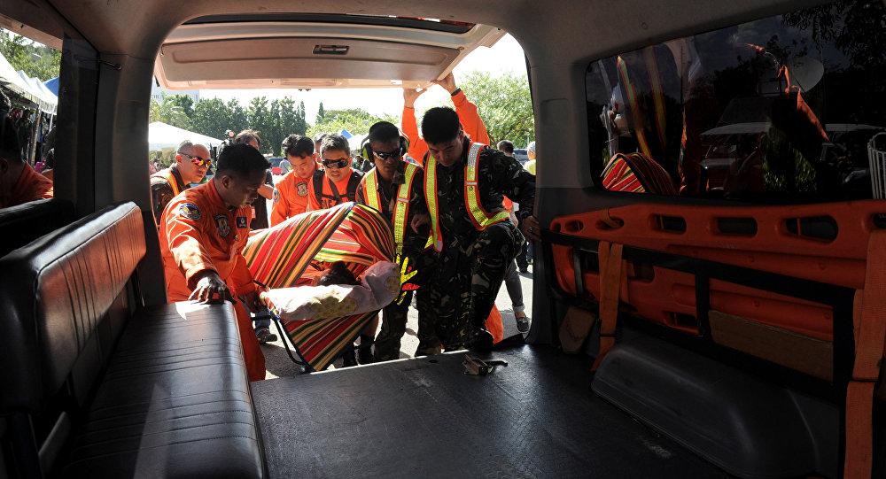 Potężna eksplozja na zatłoczonym targu w mieście Davao na południu Filipin