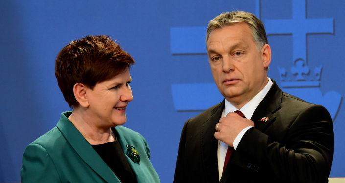 Viktor Orban i Beata Szydło