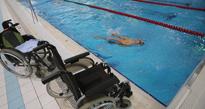 Rosyjscy paraolimpijczycy podczas treningu