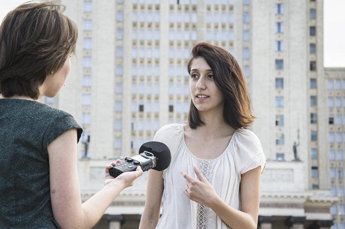 Po raz pierwszy Sandra przyjechała do Rosji 2 lata temu, po ukończeniu drugiego roku studiów na uniwersytecie Aldo Moro w mieście Bari.