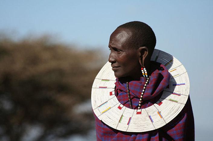 Kobieta z plemienia Masai