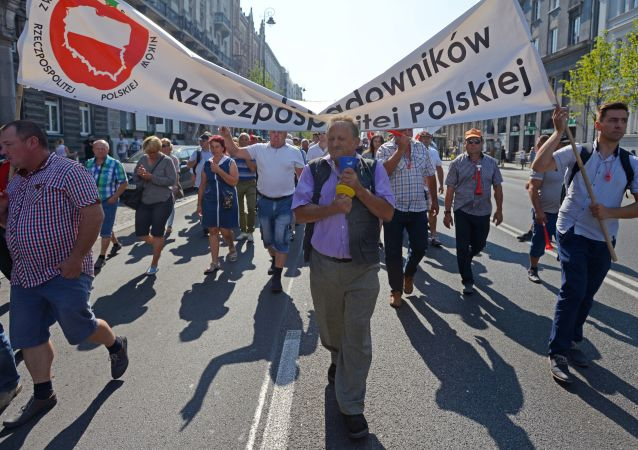Protest sadowników w Warszawie przeciwko antyrosyjskim sankcjom, 12.09.2016.