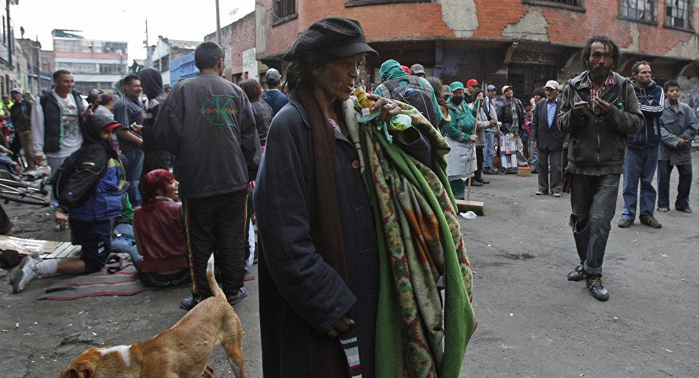 Narkomani na Bronxie, Bogota, Kolumbia