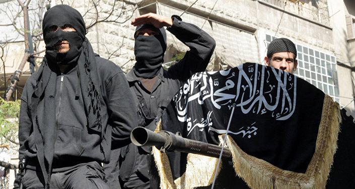 Członkowie organizacji terrorystycznej w Syrii