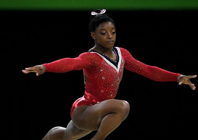 Amerykańska gimnastyczka Simone Biles