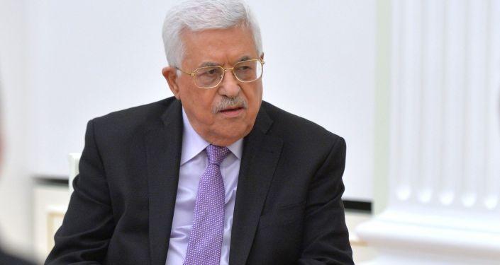 Przywódca Palestyńskich Władz Narodowych Mahmud Abbas w czasie spotkania prezydentem Rosji Władimirem Putinem na Kremlu