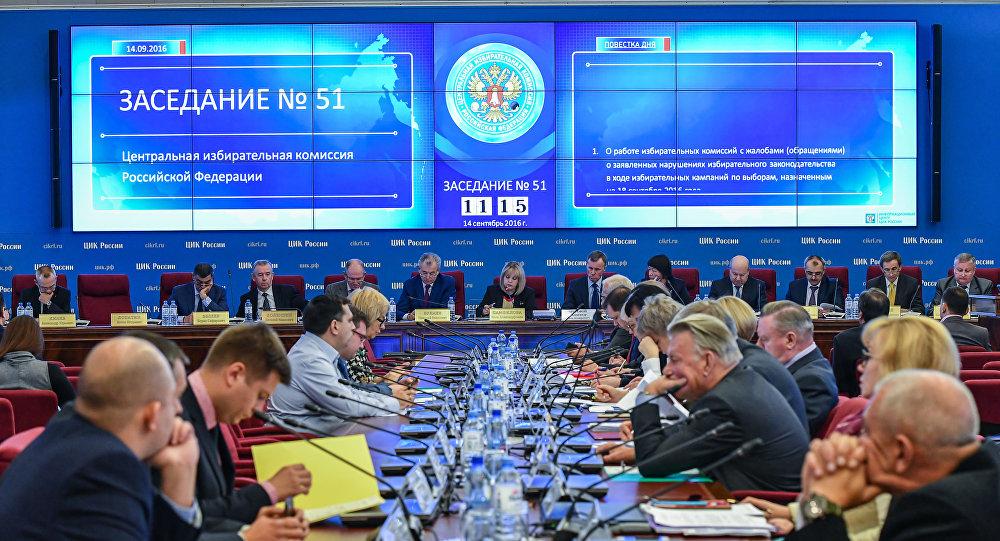 Sesja Centralnej Komisji Wybiorczej Rosji w Moskwie