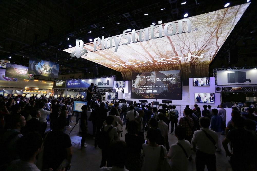Stanowisko Sony PlayStation na targach Tokyo Game Show 2016 w Tokio