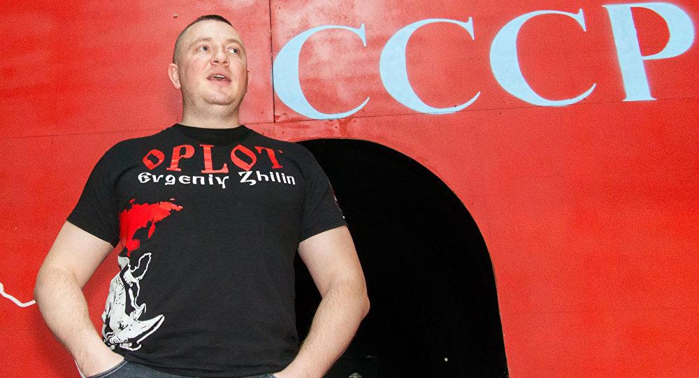 Ukraiński aktywista Jewgienij Żylin.