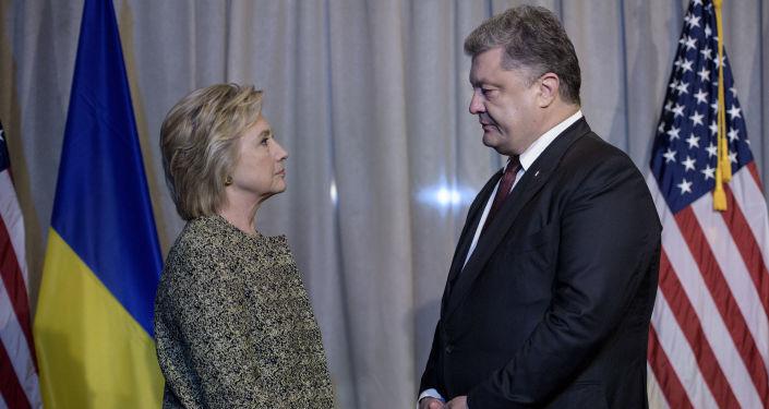 Hillary Clinton i Petro Poroszenko