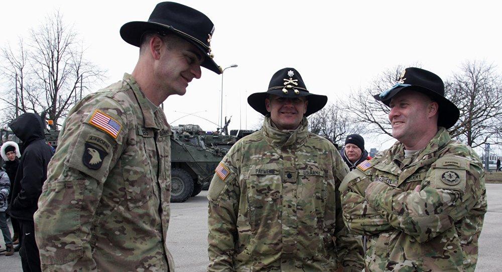 Amerykańscy żołnierze podczas Dragoon Ride na Litwie