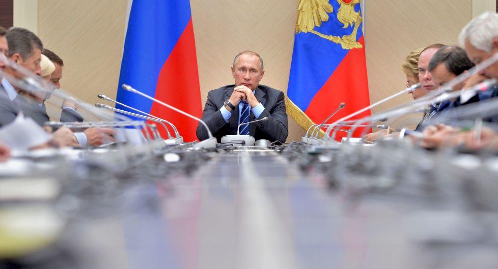 Prezydent Rosji Władimir Putin. Posiedzenie Rady ds. Rozwoju Strategicznego