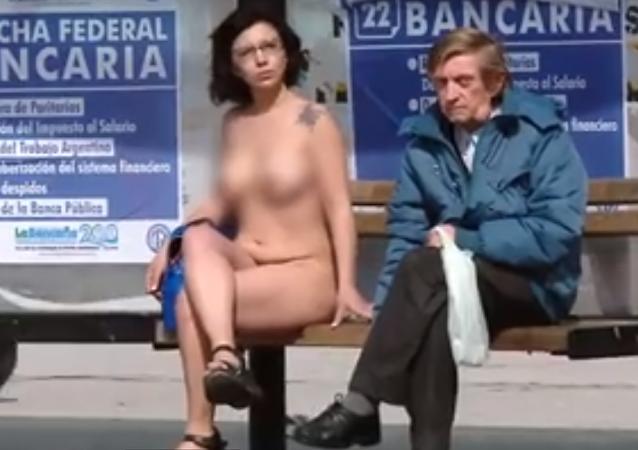 Argentyna. Nagi protest.