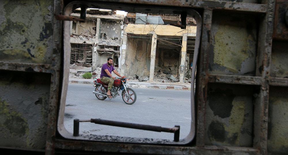 Zniszczone domy w Aleppo, Syria