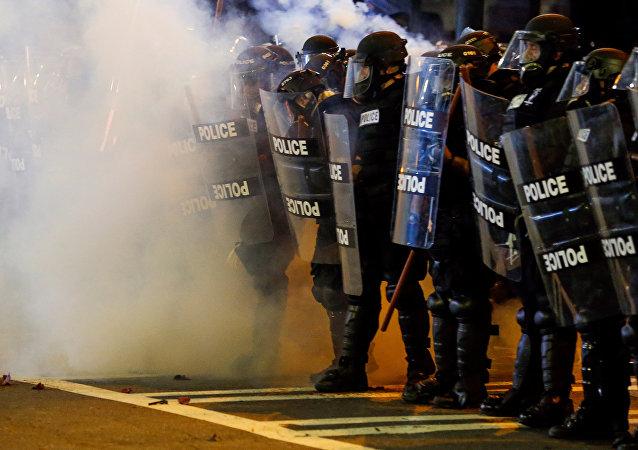 Protest w Charlotte po śmierci Afroamerykanina