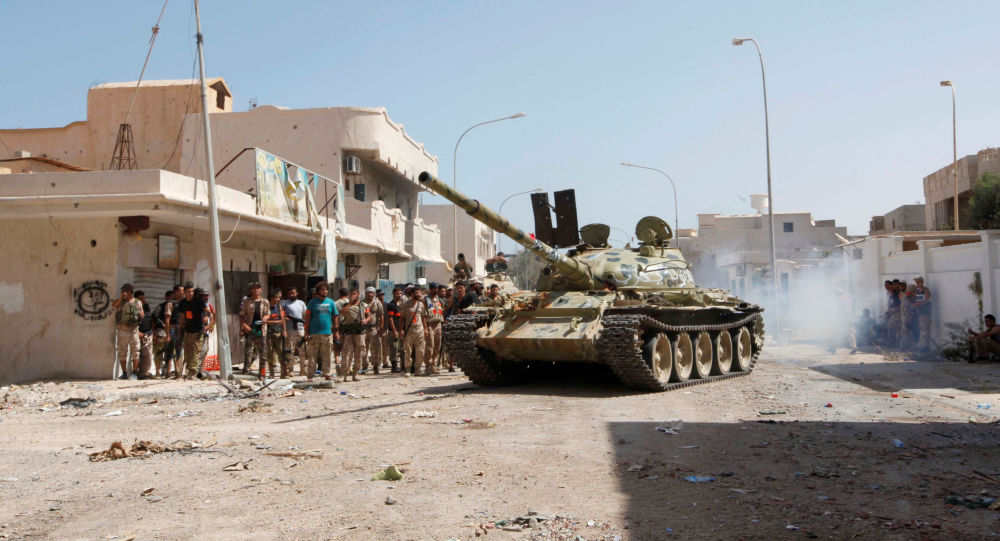 Czołg libijskich sił zbrojnych. Syrta.