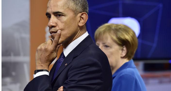 Prezydent Stanów Zjednoczonych Barack Obama i kanclerz Niemiec Angela Merkel