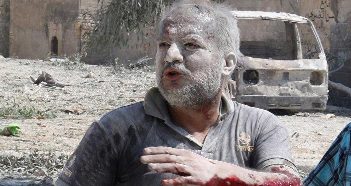 Ranny podczas nalotu mieszkaniec Aleppo