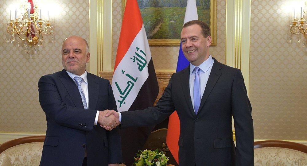 Spotkanie premiera FR Dmitrija Miedwiediewa z premierem Iraku Haiderem al-Abadi