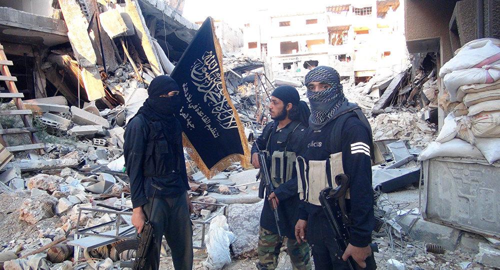 Bojownicy organizacji terrorystycznej Dżabhat an-Nusra (która ostrzelała rosyjską ambasadę) w okolicach Damaszku