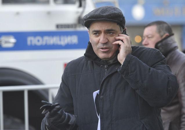 Lider Zjednoczonego Frontu Obywatelskiego Garri Kasparow