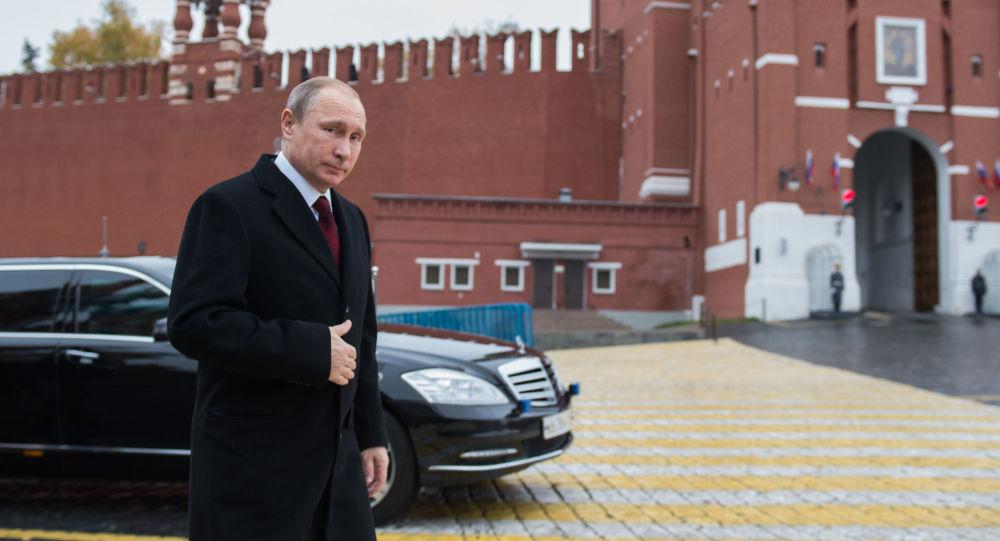 Władimir Putin na Placu Czerwonym