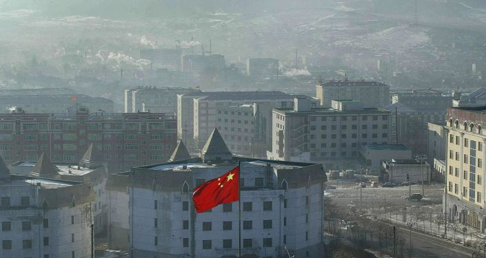 Widok na chińskie miasto Suifenhe