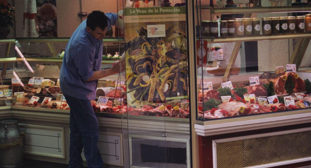 Sklep mięsny w Paryżu
