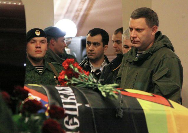 Kilka tysięcy osób przyszło pożegnać dowódcę powstańców DRL Arsena Pawłowa, znanego pod pseudonimem Motorola