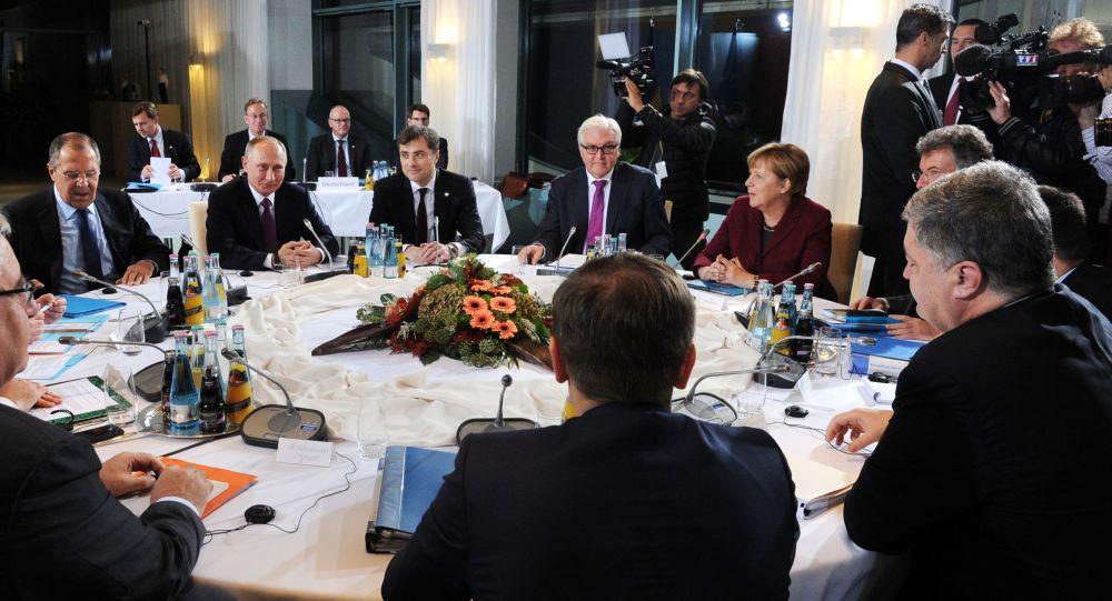 """Spotkanie liderów państw """"normandzkiej czwórki"""" w Berlinie"""