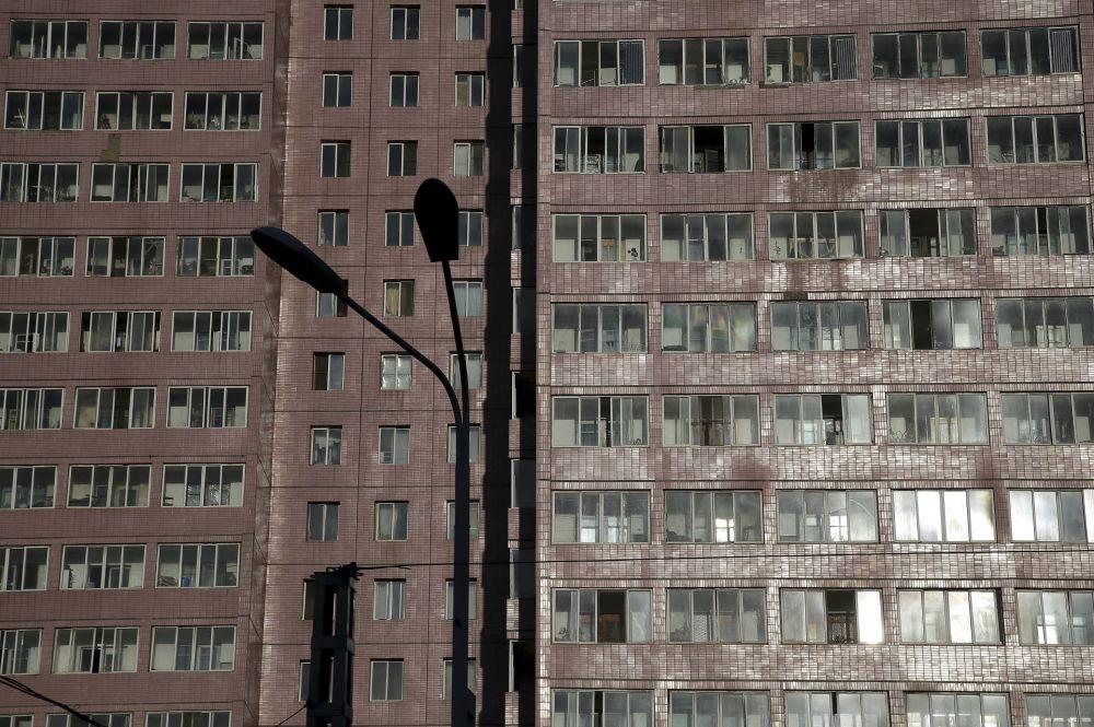 Jeden z domów mieszkalnych Pjongjangu