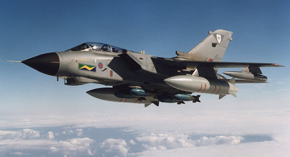 Myśliwiec Tornado lotnictwa brytyjskiego