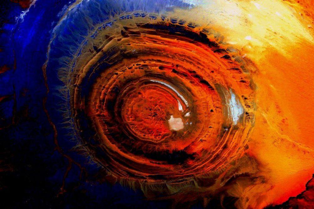 Zdjęcie Ziemi wykonane z Międzynarodowej Stacji Kosmicznej.